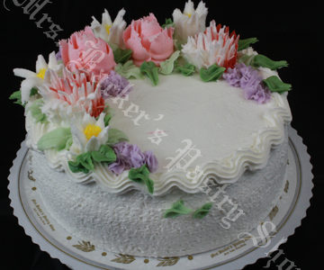 White Icing Regular Pink and  Lavender Deco